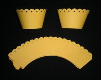 Yellow Ruffle Cupcake Wrappers