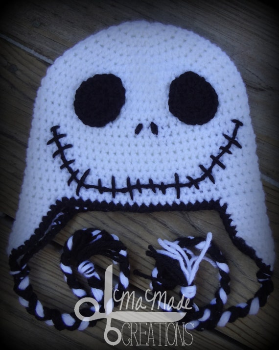 Crochet Jack Skellington : Jack Skellington Inspired Crochet Hat (Toddler-Child Sizes Made to ...