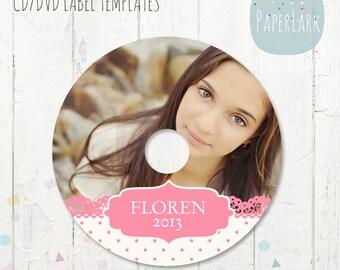 CD/dvd label for Senior photoshop template - ES007 - INSTANT Download