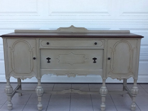 Vintage Sideboards And Buffets ~ Items similar to antique sideboard buffet credenza server
