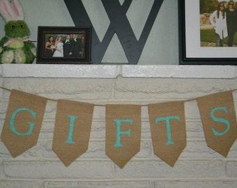 Gifts Burlap Banner
