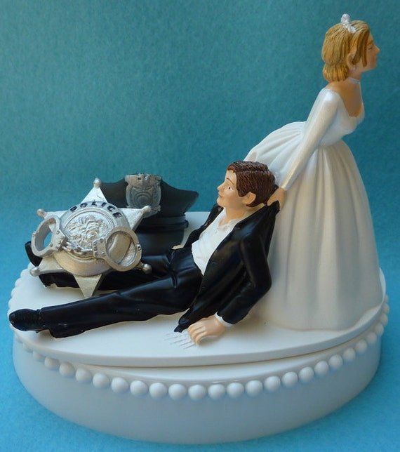 Police Officer Wedding Cake Topper