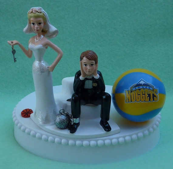 wedding cake toppers denver co wedding cake topper denver nuggets basketball themed and 26450