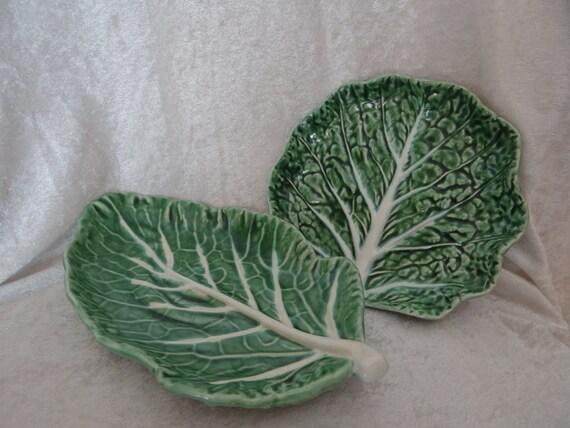 Vintage bordallo pinheiro cabbage leaf by timelesstreasuresbym - Bordallo pinheiro portugal ...