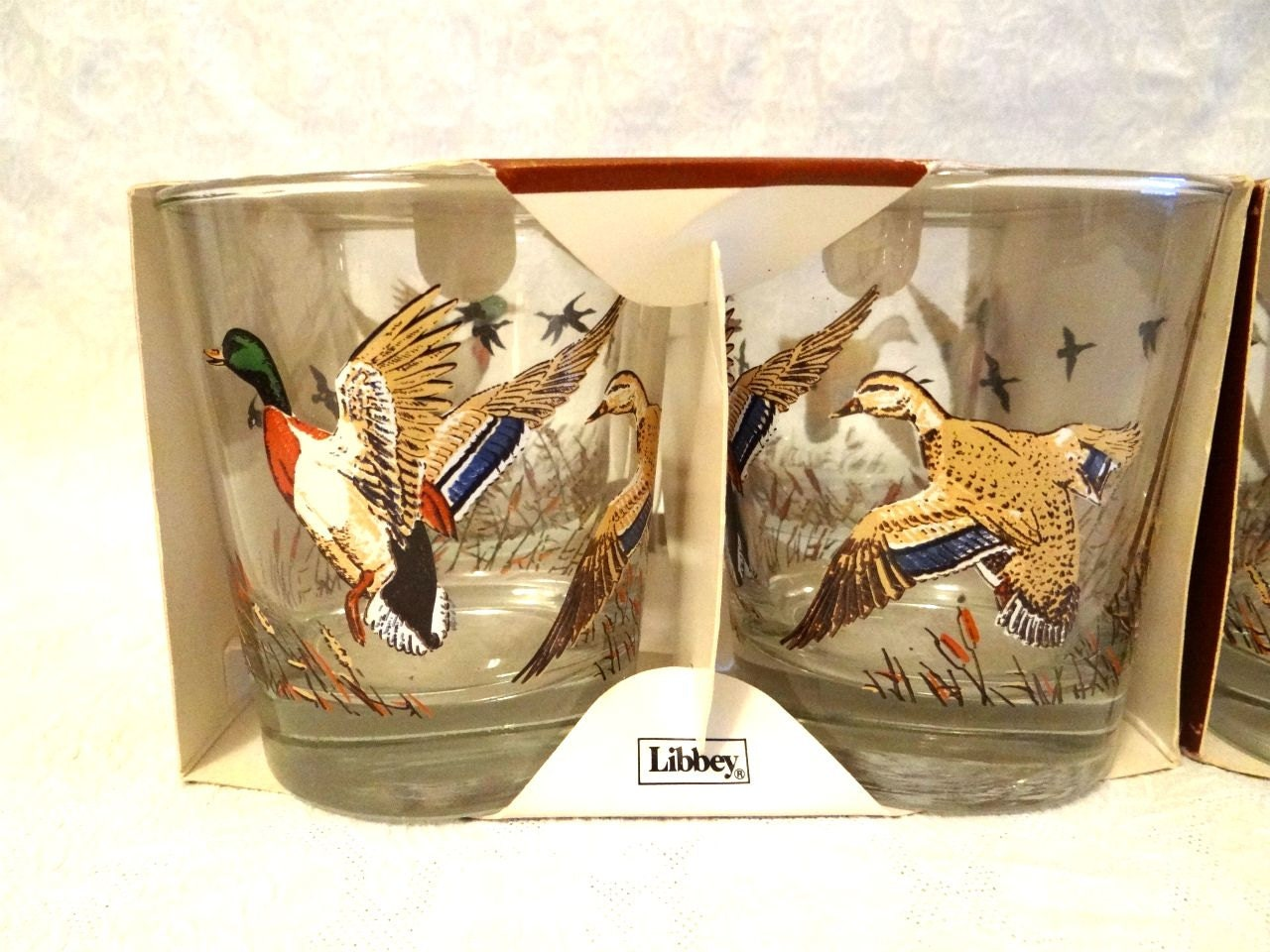 Vintage Libbey Duck Hi Ball Glasses Set Of 8 New Vintage