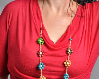 Colorful Acai Flower Necklace