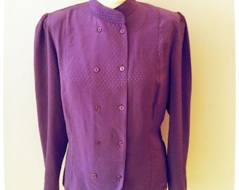 1980s Purple Blouse