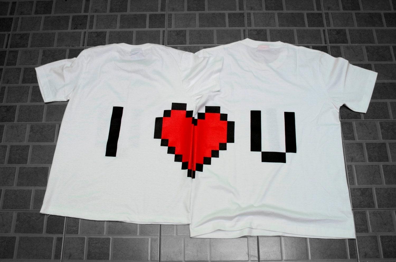 Couple t shirt design white -  Zoom