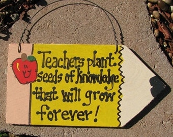 Teacher Gifts Wooden Pencils  Teachers Plant Seeds