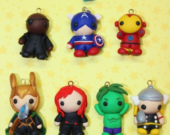 "Polymer Clay ""AVENGERS CHARMS"" (Each sold separately)"