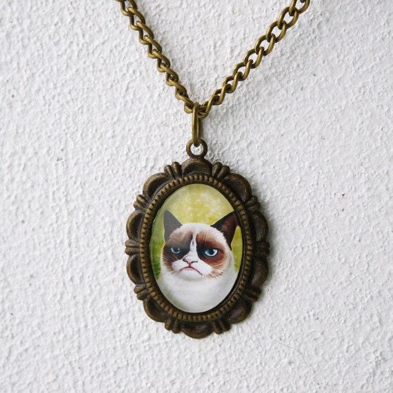 Grumpy antique bronze necklace