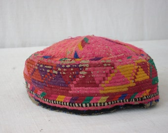 1920s Hat - Hand Woven Asian Vintage Textiles - Hand Made Kilim Hat