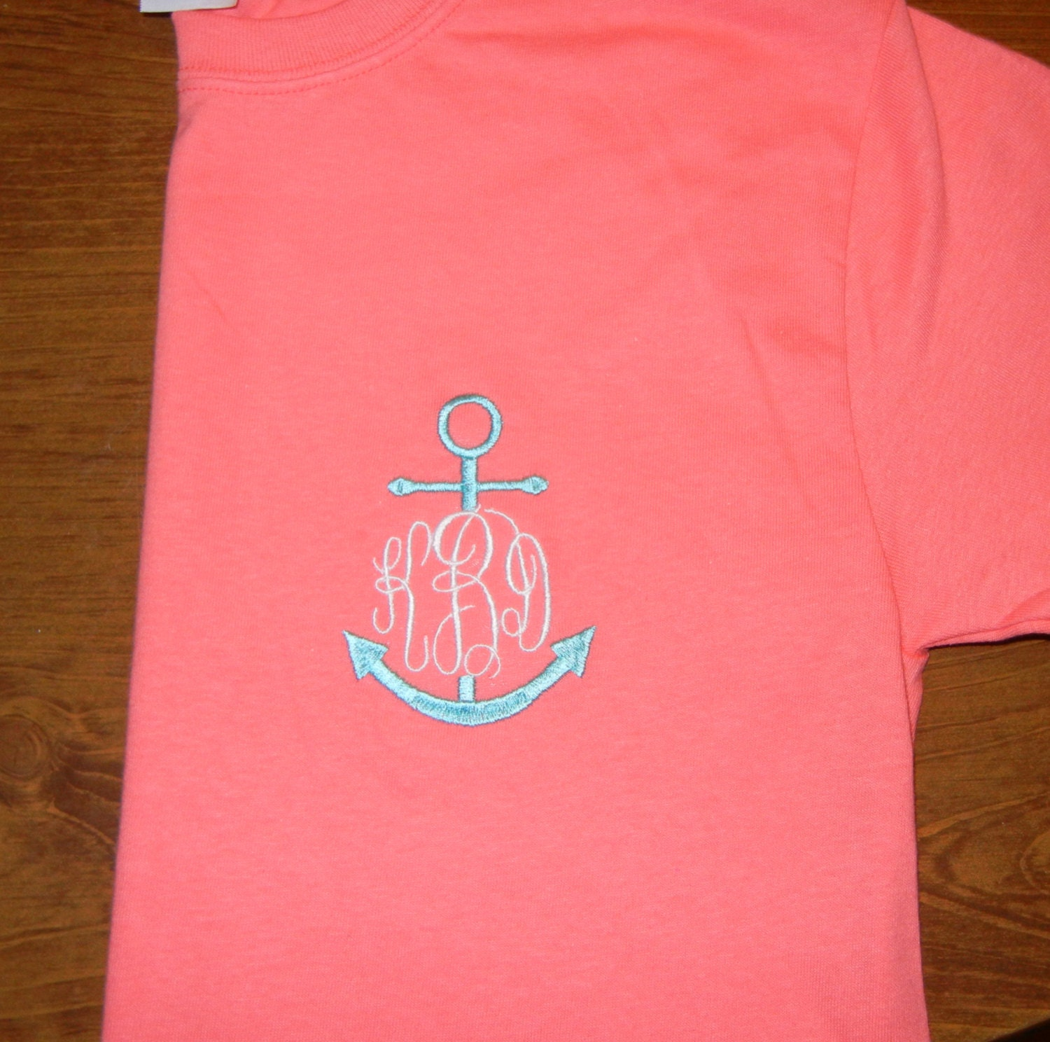 monogrammed anchor t shirt