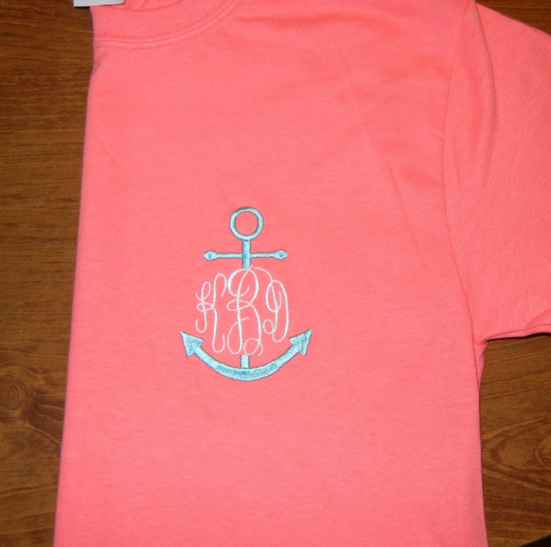 Design your own t-shirt calgary - Monogrammed Anchor T Shirt