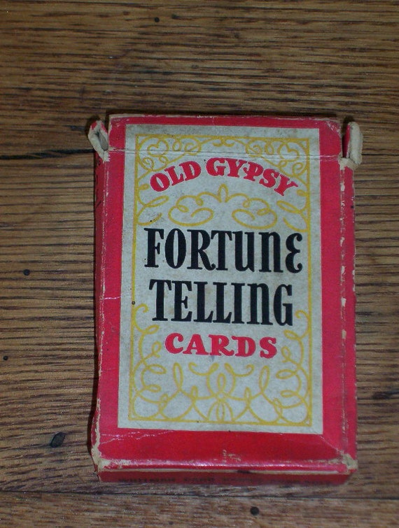 Vintage Old Gypsy Fortune Telling Cards Complete by Junesitems
