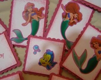 11 Princess Ariel Cupcake Toppers