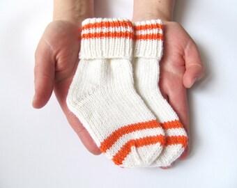 Hand Knit Baby Socks - Merino Wool Newborn Socks - Wool Baby socks Socks - Newborn Gifts - Baby Shower Gift - Made to Order