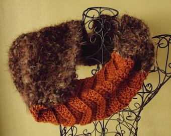 Cowl Easy CROCHET PATTERN Fur Infinity Scarf The MONTREAL Cowl Crochet Pattern