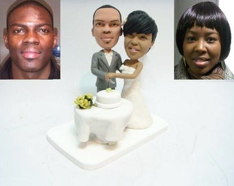 Personalised wedding cake topper  (Free shipping)