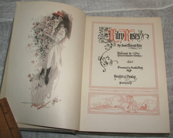 Riley Roses By James Whitcomb Riley 1909 Poetry Beautifully