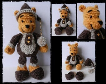 Crochet pattern Sacha the bear - Amigurumi