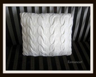 White wool pillow