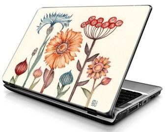 Meadow flowers (colorful) - Laptop Decals - Laptop Skins - Laptop Stickers - Laptop Vinyl