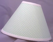 Gingham Mint Green White Checks Country Lamp Shade (10 Sizes to Choose From) - LittleBobbyCreations