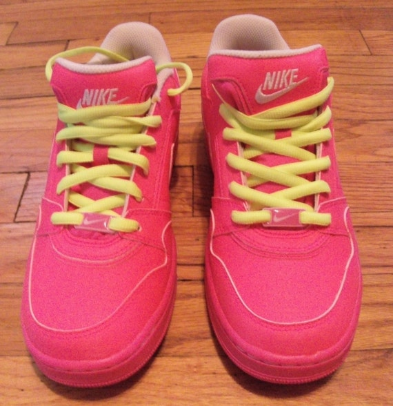 neon pink and yellow nike running shoes 28 images