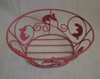 Vintage Upcycled Oval Wire Basket