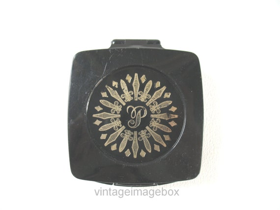 RESERVED ITEM. Vintage Pond's Angel Face powder compact, 1960s costume ...