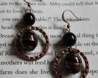Black & Copper Earrings
