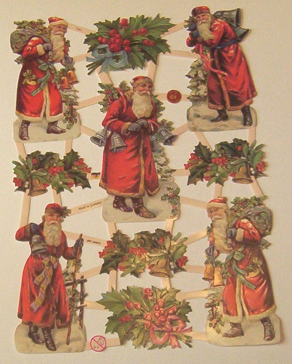 Victorian Father Christmas Decorations: Items Similar To German Victorian Father Christmas Santa