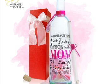 "Message In A Bottle ""MOM"" Personalized Gift"