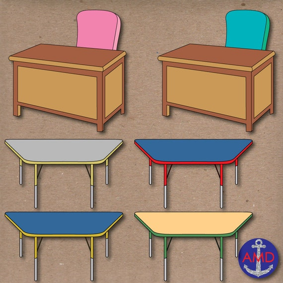 Classroom chairs desks tables furniture for scrapbooking for Tables and desks in the classroom