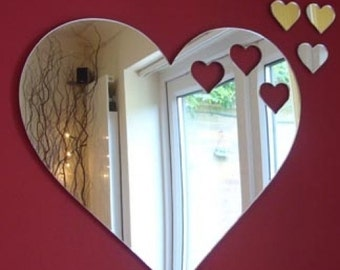 Hearts out of Heart Mirror 12cm x 10cm