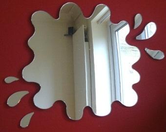 Puddle Mirror with Six Splash Mirrors 28cm x 26cm