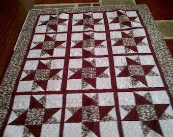 Lap size star quilt