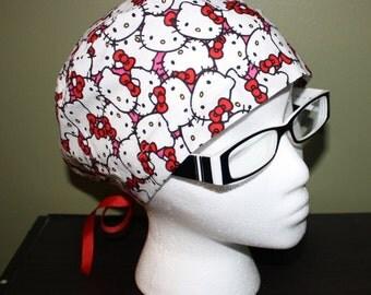 Hello Kitty Surgical Scrub Hat