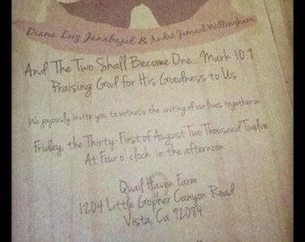 Rustic Barn Wedding Invitation PRINTABLE WEDDING INVITE
