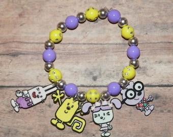 Wow Wow Wubbzy and Friends Custom Charm Bracelet