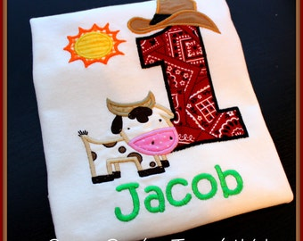 Barnyard Themed Personalized Birthday Number Shirt