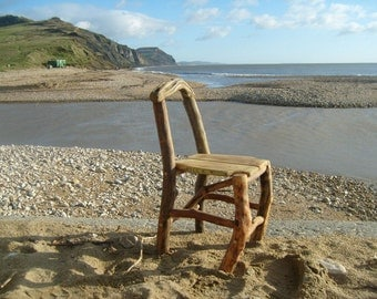 handcrafted driftwood chair
