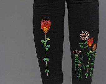 Leggings flower magic in black