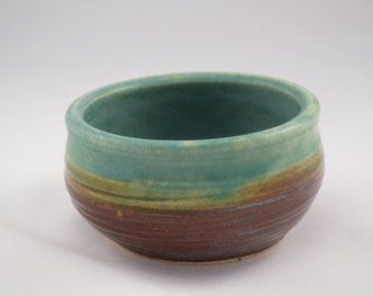 Small Decorative Bowl - green glass inside