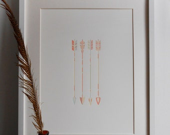 Letterpress Vintage Arrows Print