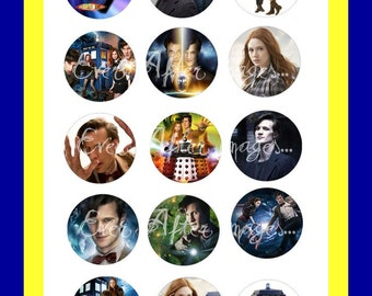 Dr Doctor Who Matt Smith Tardis Amy Amelia Pond Collage Bottlecap Scrapbooking