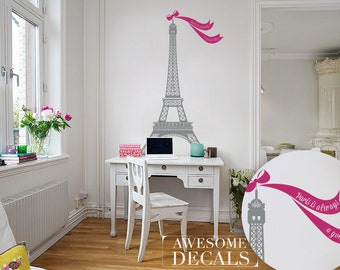 Eiffel Tower Decal  - Living Room Wall Decoration - Custom Wall Art - Vinyl Murals - Awesome decals / 026