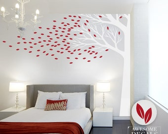 Corner Tree Wall Decal - Vinyl Wall Decal - Large Wall Decal - 055