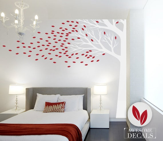 Corner Tree Wall Decal Large Wall Decal Custom Wall Art